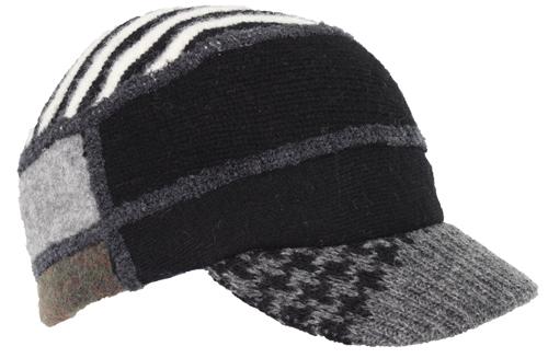 Xob knit cap black grey