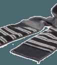 XOB Pocket Scarf black-grey