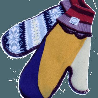 USA knit mittens