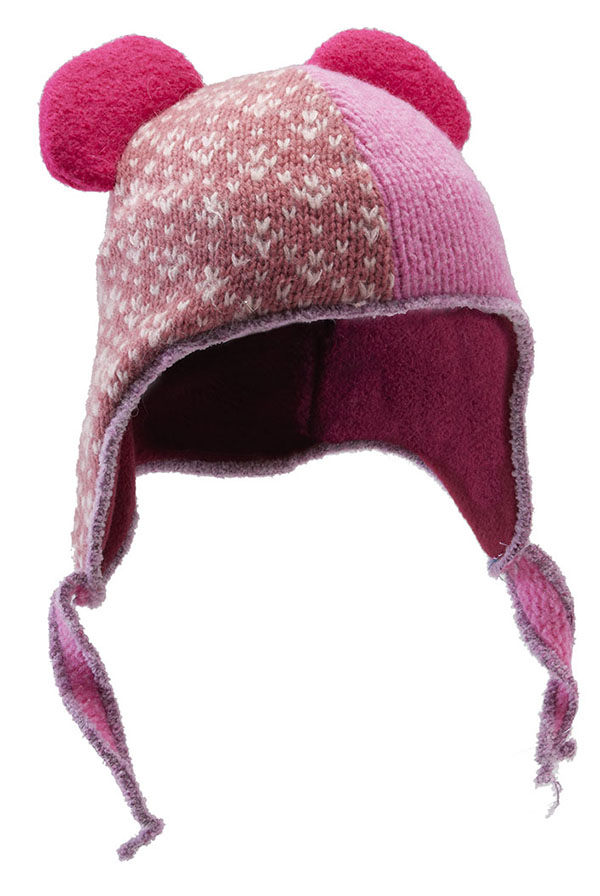 kids ear hat multi-pink