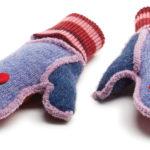 Xob kids mittens multi-pink