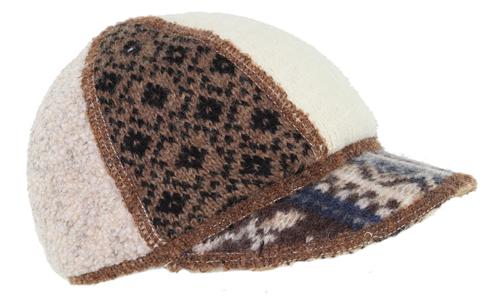 Xob kids soft visor brown-tan