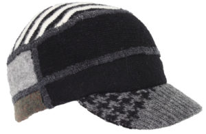 Xob knit cap black grey