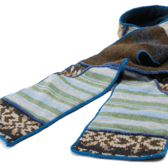 XOB pocket scarf blue/green