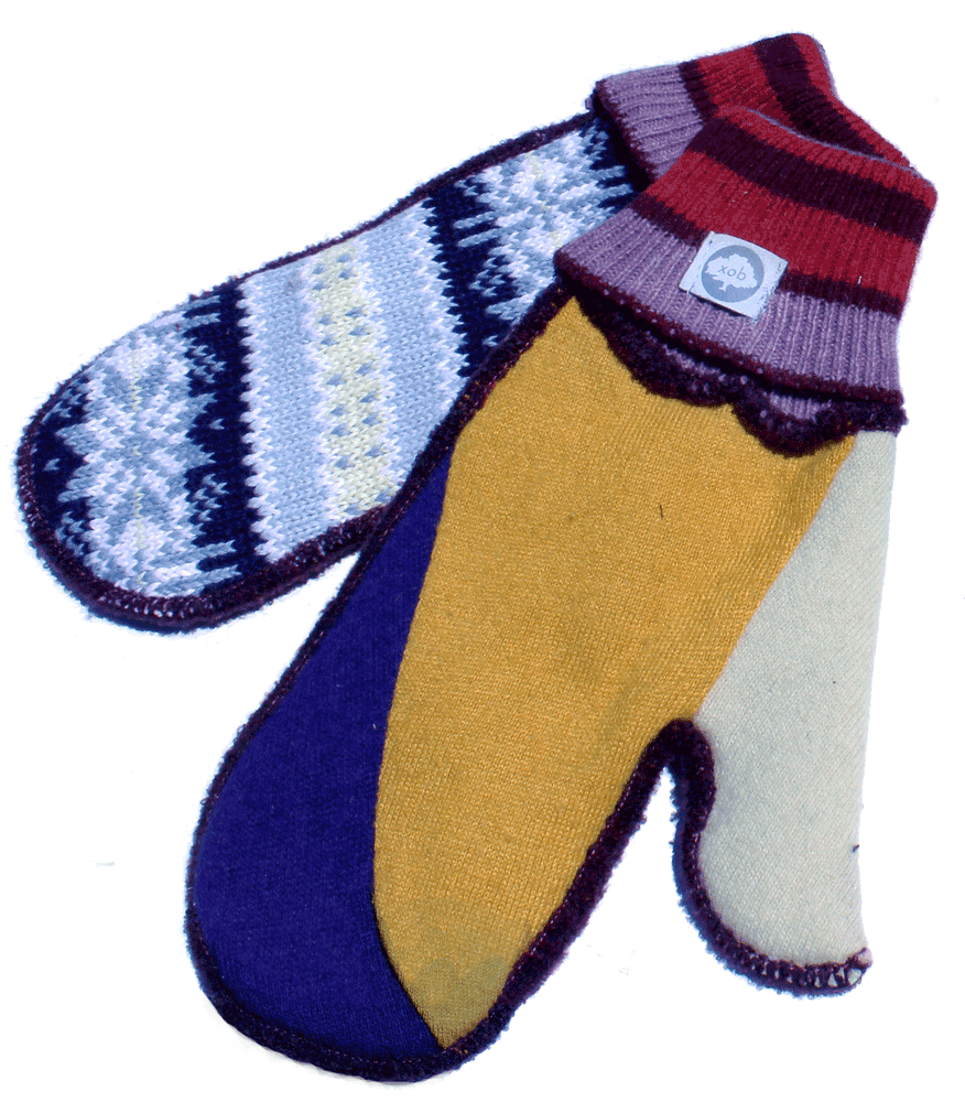 USA knit mittens