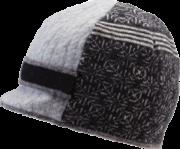 Xob Upcycled hats- Visor Black-Grey