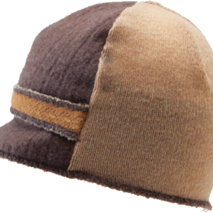 Xob Upcycled hats- Xob Visor - Brown-Tan