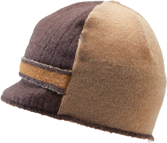 Xob Upcycled hats- Xob Visor - Brown-Tan